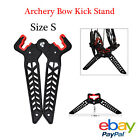 1XArchery Bow Stand Compound Bow Holder Rack Limb Clamp Kick Stand Holder Black