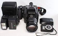 Pentax 645 Body Medium Format Camera 120 Film back w/ Pentax-A 135mm F3.5 Lens