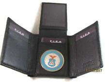 CAP CIVIL AIR PATROL BLACK HIGH GRAIN QUALITY LEATHER TRIFOLD WALLET