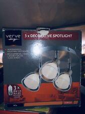 Homebase Verve Design Arla 3x28W LED Wall Spotlight -Satin Nickel