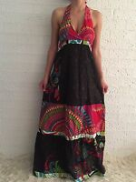 Women's Summer Halter Party Boho Casual Eve Maxi Long Dress Size 6-8-10-12-14-16