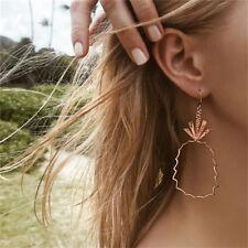 Women's Stud Earrings Hollow Pineapple Big Hoop Dangle Drop Ear Statement Z