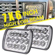 "2x45W 7x6'' 5X7"" LED Projector Headlight HiLo Beam Halo DRL For Jeep Cherokee XJ"