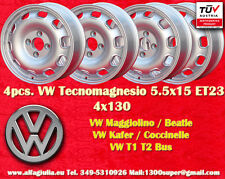 4 Cerchi Volkswagen 5.5x15 Coccinelle Maggiolino Käfer T1 T2 Wheels felgen TUV