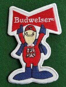 Budweiser Beer BUDMAN Patch Red White Vintage