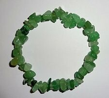 Premium Aventurine Crystal healing Gemstone Energy Chip Stretch Bracelet