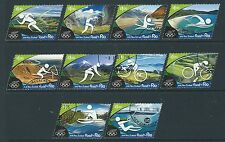 NEW ZEALAND 2016 ROAD TO RIO SET OF 10  FINE USED SINGLES OLYMPICS