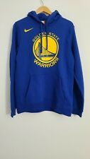 Nike NBA Golden State Warriors Logo Fleece Hoodie Blue 881131-010 Men's Large