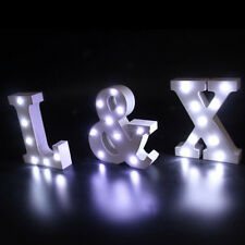 26 Alphabet and & LED Light Standing Hanging White Wooden Wedding Party Decor