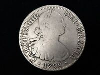 "1798 Mexico 8 Reales FM ""America's 1st Silver Dollar"" Real Pirate Treasure"
