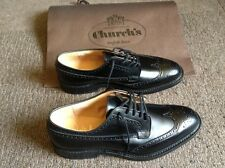 Church's Grafton size 11 F shoe Mens Brogue Leather Polished Binder black