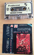 KREATOR - Pleasure to kill MC RARE 1'ST POLISH PRESS 1990