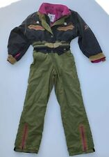 Vintage 1932 Bogner Modell Embroidered Womens Winter Ski Suit One Piece 10 Usa