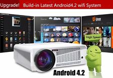 Android 4.2 5000 Lumens 1080P 3D Home Theater LED Projector USB TV 3D WIFI VGA