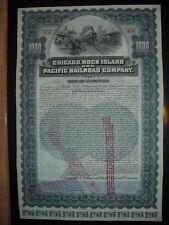 Chicago Rock Island and Pacific Railway  1902   1000$ Bond