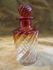 Petit flacon de toilette cristal baccarat rose bambou baccarat perfume bottle