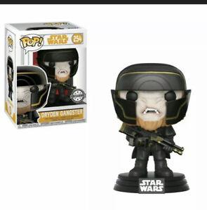 Star Wars Dryden Gangster 254 Exclusive Funko pop Bobble Head Vinyl Figurine UK