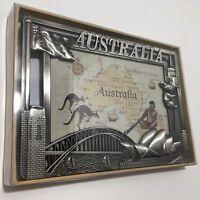 Rare Pewter Picture Frame Sydney Australia Sydney Opera House Koala Flag 15x10cm