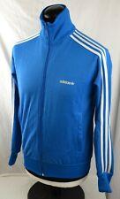 Adidas Originals Flock Zip Up Track Top S Blue Tracksuit Shirt OG