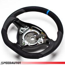 Ricambio Tuning Piatto Volante in pelle VW golf 4 Bora Passat 3B Gti Blu Ring