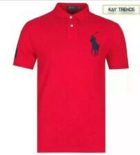 Ralph Lauren Big Pony Camisa Polo para hombre de malla-Rojo Tamaño Grande