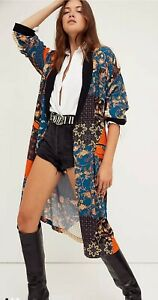 Free People Wild Nights Duster Kimono BNWOT Size Med RRP £158