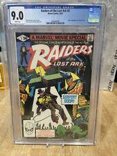 Raiders of the Lost Ark #2 CGC 9.0 1981 Marvel Comics 1981 Movie adaptation