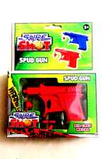 HTI SURE SHOT - DIE - CAST SPUD GUN - VARIOUS COLOURS - RED AND BLUE 3 YEARS