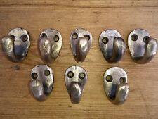 8 X 35mm cast iron coat hooks with vintage style antique brass finish