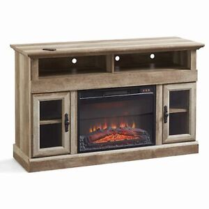 """Better Homes & Gardens Crossmill Fireplace Media Console for TVs up to 60"""", Weat"""