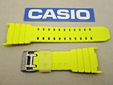 Genuine Casio G-Shock G-5500TS G-5500TS-9 yellow resin rubber watch band strap