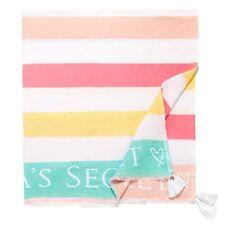 Victoria's Secret Pink Vs Summer Vibe Tassle Fringed Beach Blanket Throw, New