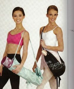 NWT Satin Capezio 1241 Love your shoes bag Ballerina DANCE great yoga mat bag