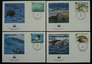 Mauritania WWF Sea Dogs 1986 Protected Wildlife Fauna (stamp FDC) *clean