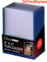 25 x Ultra Pro BLUE TOPLOADER Rigid Card Protector Regular TOP LOADER