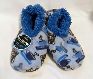 Snoozies Women's Slippers, Good News, Blue, Size 7-8 Med, New with Tag