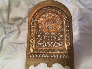J.L.Jackson 1852 Summer Fireplace cover, Cast Iron, signed