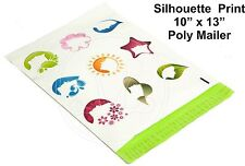 New listing (35) Silhouette Print 10 x 13 Poly Mailers Self Sealing Envelopes Bags Color