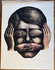 """Ecole Paris Art Moderne """" la sagesse"""" Lithographie signée main R Topor 1938-1997"""