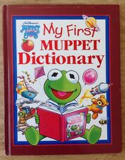 MY FIRST MUPPET DICTIONARY MUPPET BABIES HARDCOVER BOOK KERMIT VINTAGE CHILDRENS