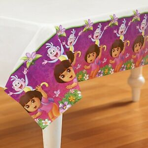 Dora the Explorer Plastic Tablecover Boots 2012 Nick Jr. New Birthday Party