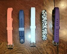 Lot / Bundle of 5 Replacement Bands for Fitbit Alta or HR Adjustable Buckle Snap