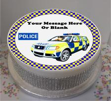 """Novità personalizzati a tema di polizia 7.5"""" Commestibile Glassa Cake Topper Compleanno"""