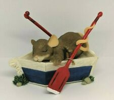 """Fitz & Floyd Charming Tails """" You're A Dream Boat"""" 82/122 Mouse Figurine"""