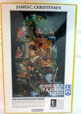 "The Shakespearean Poster 1000 Pcs Jigsaw Puzzle 26""x17"" Fx Schmid Christense NEW"