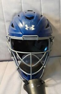 Under Armour I Bar Vision Baseball Catchers Helmet Mask Size 7 - 7 3/4 W/chingd