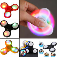 Fidget Spinner LED Light Flash Hand Finger Focus EDC Fast Bearing Stress Toys