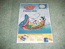 1992 Goof Troop Postcard Full Back Panel Disney