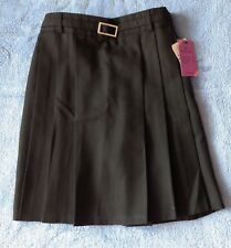 John Lewis Girls Black Pleated School Skirt Belted Kilt 12 Years BNWT
