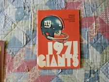 1971 NEW YORK GIANTS MEDIA GUIDE Press Book Program Yearbook NFL Football AD